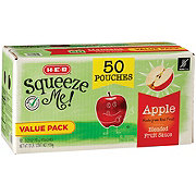 H-E-B Select Ingredients Squeeze Me! Sweet Apple Sauce Pouches Value Pack