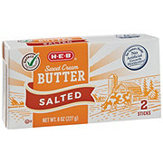H-E-B Select Ingredients Sweet Cream Salted Butter Sticks