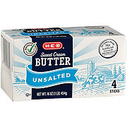 H-E-B Select Ingredients Sweet Cream Unsalted Butter