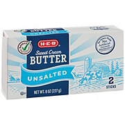 H-E-B Select Ingredients Sweet Cream Unsalted Butter Sticks
