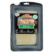 H-E-B Select Ingredients Swiss Cheese, Thin Slices