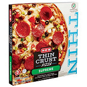 H-E-B Select Ingredients Thin Crust Supreme Pizza