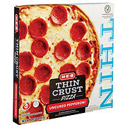 H-E-B Select Ingredients Thin Crust Uncured Pepperoni Pizza
