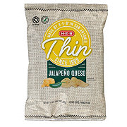 H-E-B Select Ingredients Thin Jalapeno Queso Potato Chips