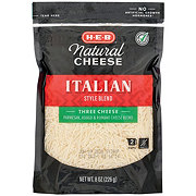 H-E-B Select Ingredients Three Cheese Italian Style Cheese,  Shredded