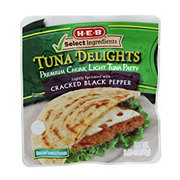 H-E-B Select Ingredients Tuna Delights Chunk light Tuna Patty with Cracked Black Pepper