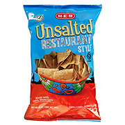 H-E-B Select Ingredients Unsalted Restaurant Style White Corn Tortilla Chips