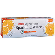 H-E-B Select Ingredients Unsweetened Sparkling Orange Water 12 oz Cans