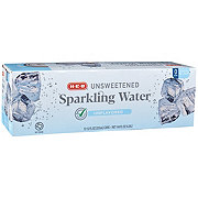 H-E-B Select Ingredients Unsweetened Unflavored Sparkling Water 12 oz Cans