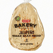 H-E-B Select Ingredients Vegan Naan Bread Jalapeno