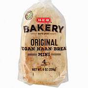 H-E-B Select Ingredients Vegan Naan Bread Mini Original
