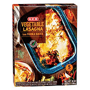 H-E-B Select Ingredients Vegetable Lasagna with Vodka Sauce