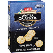 H-E-B Select Ingredients Water Entertainer Crackers Bite Size