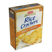H-E-B Select Ingredients White Cheddar Rice Crackers