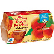H-E-B Select Ingredients Yellow Cling Diced Peaches In Light Syrup