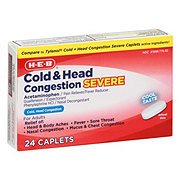 H-E-B Severe Daytime Non-Drowsy Cold and Head Congestion Caplets