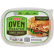 H-E-B Shaved Oven Roasted Turkey Breast Family Pack