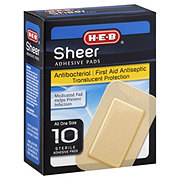 H-E-B Sheer All One Size Adhesive Pads