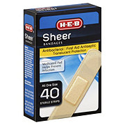 H-E-B Sheer All One Size Bandages