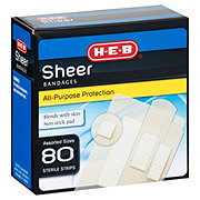 H-E-B Sheer All-Purpose Bandages Assorted Sizes