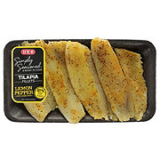 H-E-B Simply Seasoned Lemon Pepper Tilapia Fillet, Farm Raised