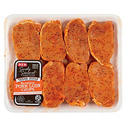 H-E-B Simply Seasoned Texas Style Boneless Pork Loin Chops Value Pack