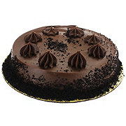 H-E-B Single Layer Chocolate Cake with Fudge Icing