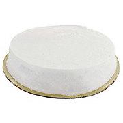 H-E-B Single Layer White Buttercream Cake