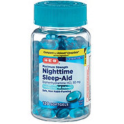 H-E-B Sleep Aid Diphenhydramine 50 mg Softgels