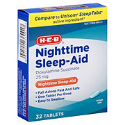 H-E-B Sleep-Aid Doxylamine Succinate Tablets