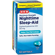H-E-B Sleep Aid Maximum Strength Nighttime Sleep-Aid Softgels