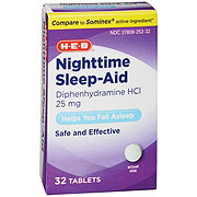 H-E-B Sleep Aid Tablets Diphenhydramine HCl 25 Mg Tablets