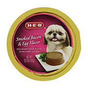 H-E-B Smoked Bacon & Egg in Savory Juices Wet Dog Food