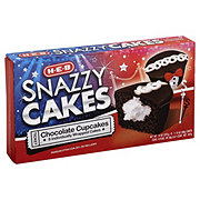 H-E-B Snazzy Cakes Chocolate Cupcakes