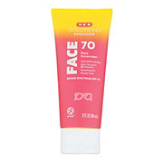 H-E-B Solutions Face Broad Spectrum Sunscreen Lotion SPF 70