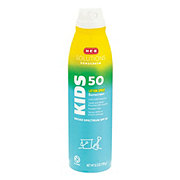 H-E-B Solutions Kids Broad Spectrum Sunscreen Lotion Spray SPF 50