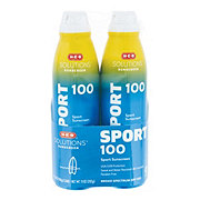 H-E-B Solutions Sport SPF 100 Clear Spray Twin Pack