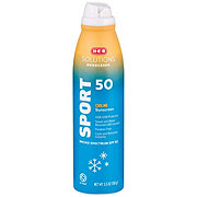 H-E-B Solutions Sport SPF 50Cooling Sunscreen Spray
