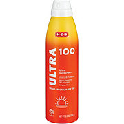 H-E-B Solutions Ultra Broad Spectrum Sunscreen Spray SPF 100