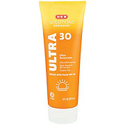 H-E-B Solutions Ultra Protection Broad Spectrum Sunscreen Lotion SPF 30