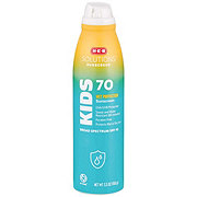H-E-B Solutions Wet Protection For Kids Broad Spectrum Sunscreen Spray SPF 70