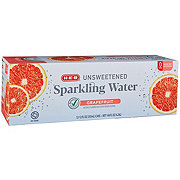 H-E-B Sparkling Grapefruit Water Beverage 12 oz Cans