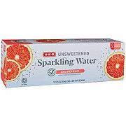 H-E-B Sparkling Grapefruit Water Beverage 12 oz Cans