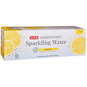 H-E-B Sparkling Natural Lemon Water Beverage 12 oz Cans