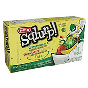 H-E-B Sqlurp! Wacky Watermelon and Surfin' Strawberry Banana Portable Yogurt 16 PK