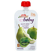 H-E-B Stage 2 Baby Apple Pear Spinach