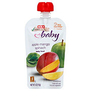 H-E-B Stage 2 Baby Pouch Baby Food Apple Mango Spinach