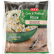 H-E-B Steamable Rice with Corn & Poblano