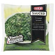 H-E-B Steamable Sauced Creamed Spinach