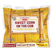 H-E-B Steamable Sweet Corn on the Cob Mini Ears